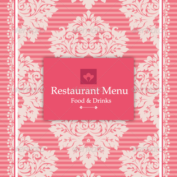 Pink Menu Design - Backgrounds Business