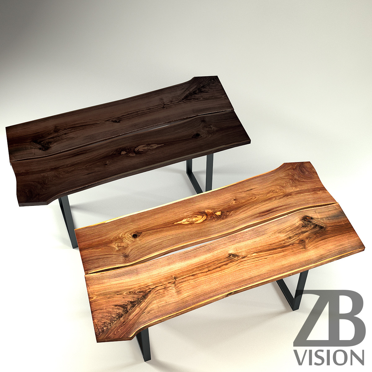 Wood Slab Table by IGN-Design Switzerland by Luckyfox   3DOcean