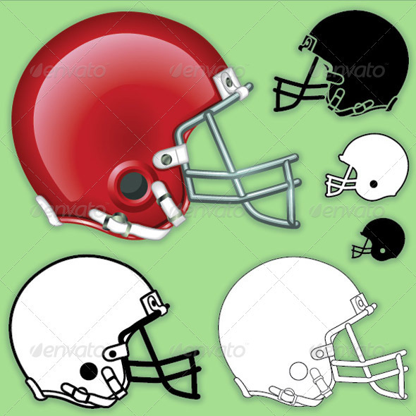 American Football Helmet Side - Sports/Activity Conceptual