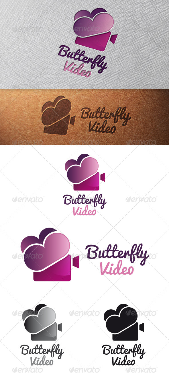 Butterfly Video Logo Template - Objects Logo Templates