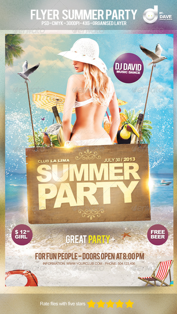 Flyer Summer Party - Template - Events Flyers