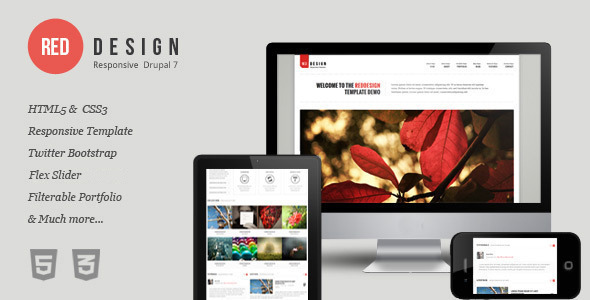 Image of RedDesign - Responsive Drupal 7 Theme