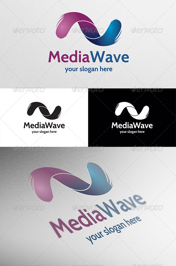 Media Wave - Abstract Logo Templates