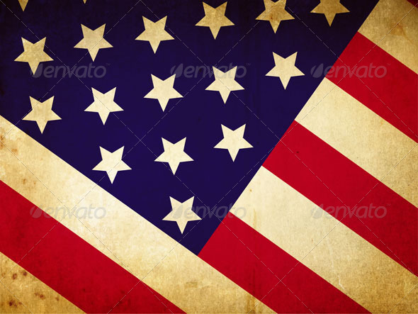 Vintage American flag - Vectors