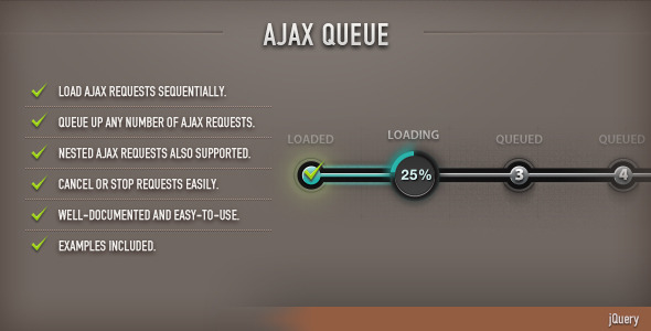 AJAX Queue (jQuery) - CodeCanyon Item for Sale
