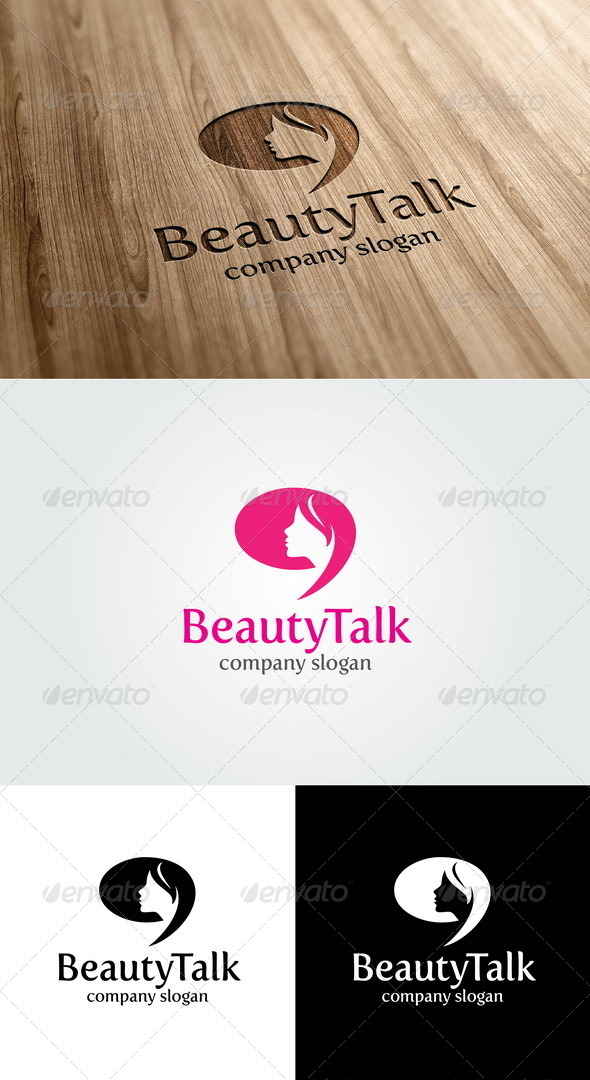 Beauty Talk Logo - Humans Logo Templates