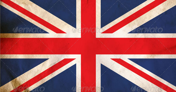 Grunge Dirty UK Flag - Vectors