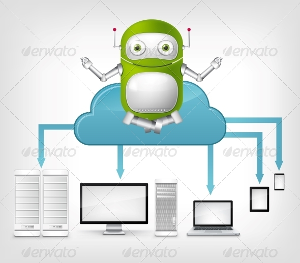 Cloud Service Concept. - Computers Technology
