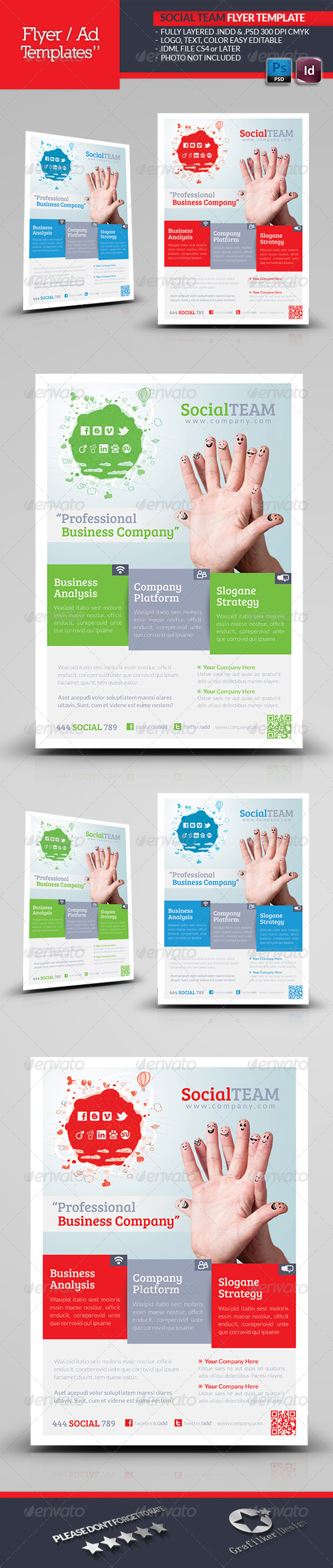 Social Team Flyer Template - Corporate Flyers