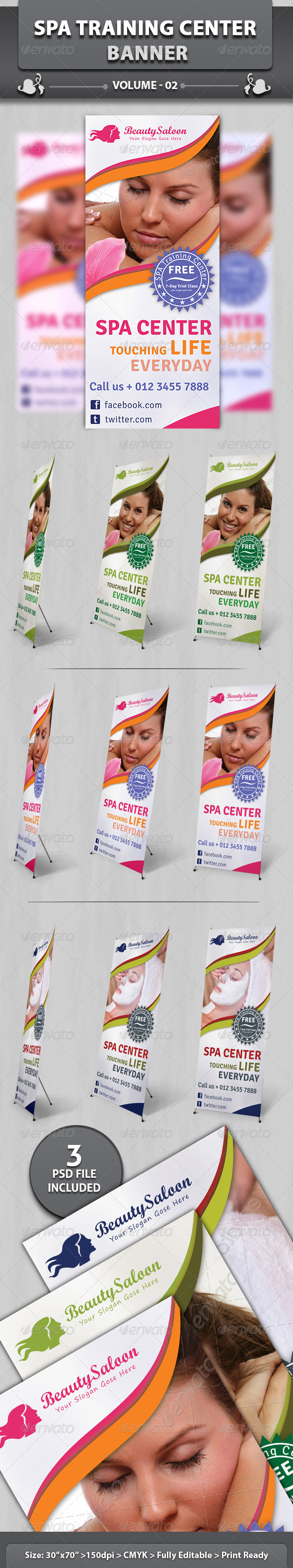 Spa & Beauty Saloon Banner | Volume 6 - Signage Print Templates