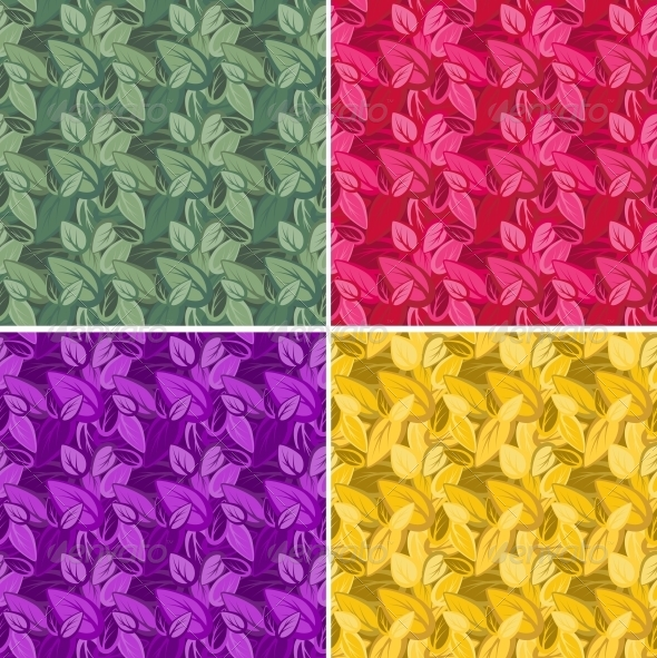 Seamless Leaf Pattern - Flowers & Plants Nature