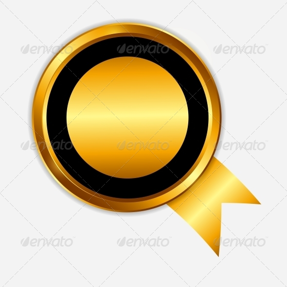 Vector Gold Sign Label Template - Retail Commercial / Shopping