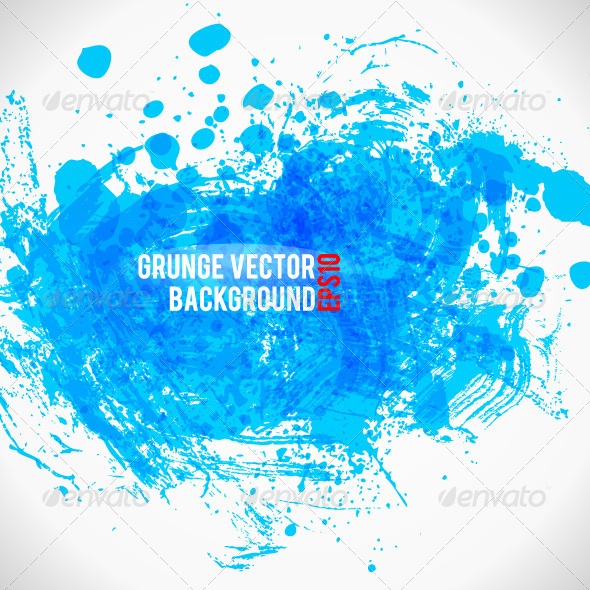 Color Paint Splashes Grunge Background - Backgrounds Decorative