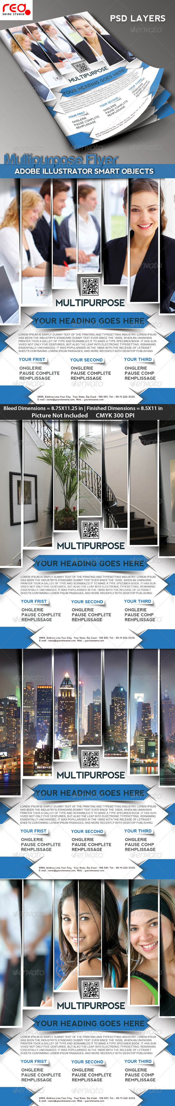 Multipurpose Business Flyer/Poster Magazine Templat - Corporate Flyers
