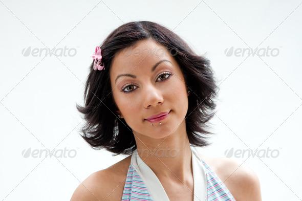 Beautiful Latina face - Stock Photo - Images
