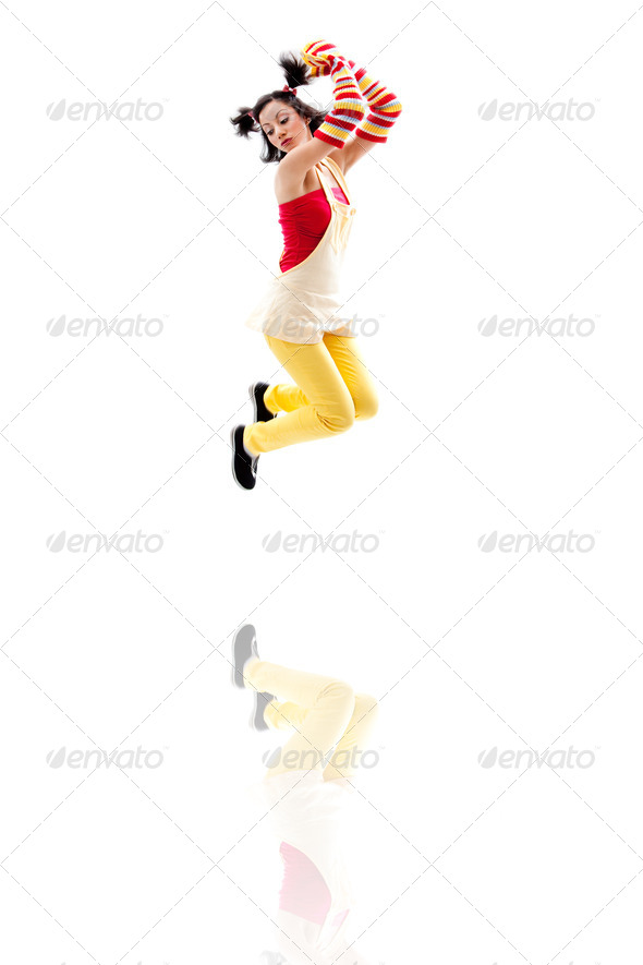 Jumping girl - Stock Photo - Images