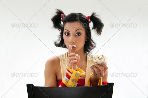 Cupcake girl - Stock Photo - Images