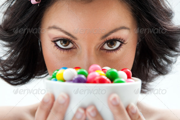 Candy girl - Stock Photo - Images