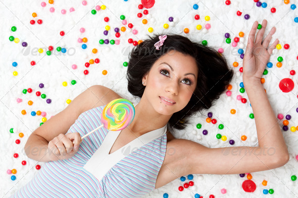 Lollipop girl - Stock Photo - Images