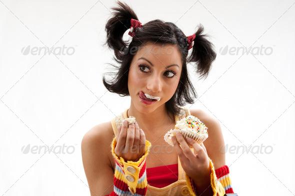 Cupcake girl - Stock Photo - Images