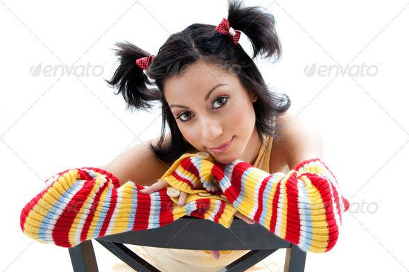 Fun girl - Stock Photo - Images