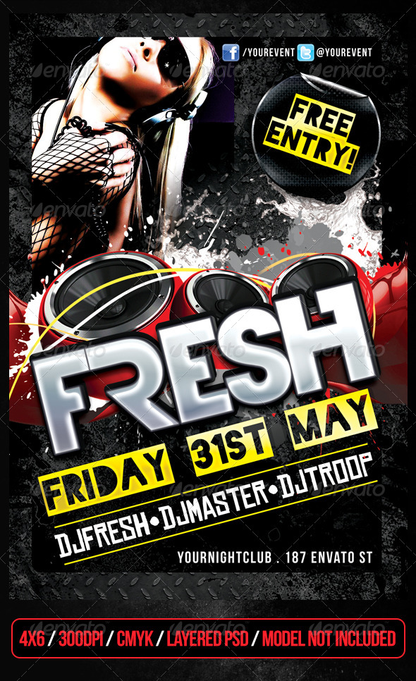 Fresh Club Flyer - Clubs & Parties Events