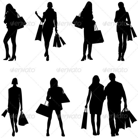 Shopping Icons - Vector Illustration - Commercial / Shopping Conceptual