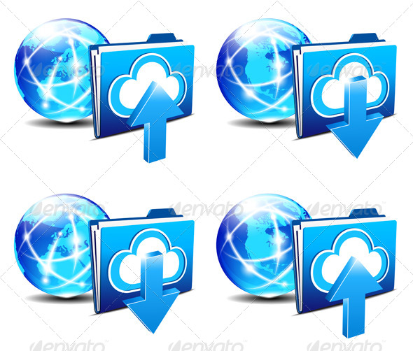 Upload Download Folder Communication Internet - Web Technology
