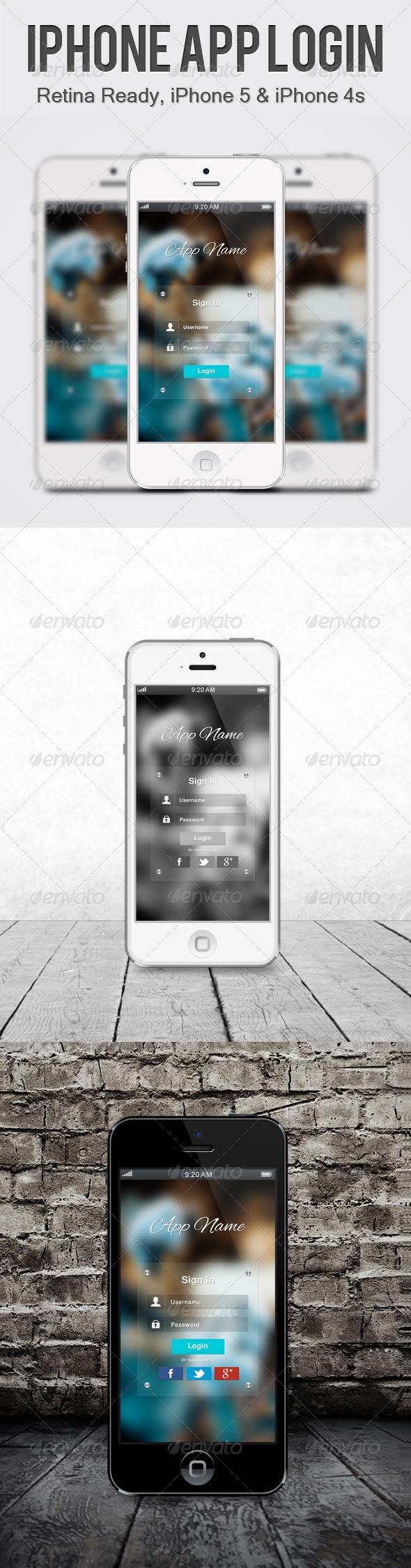 Transparent iPhone App Login - Miscellaneous Web Elements