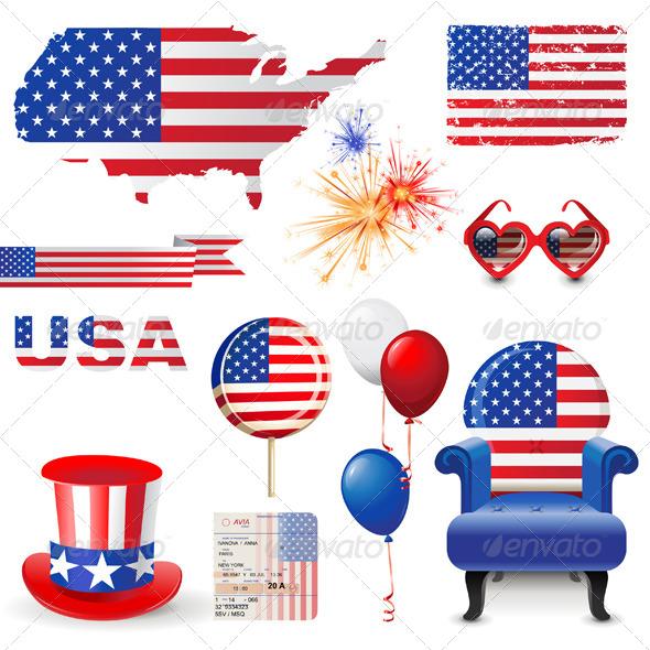 American Flag - Conceptual Vectors