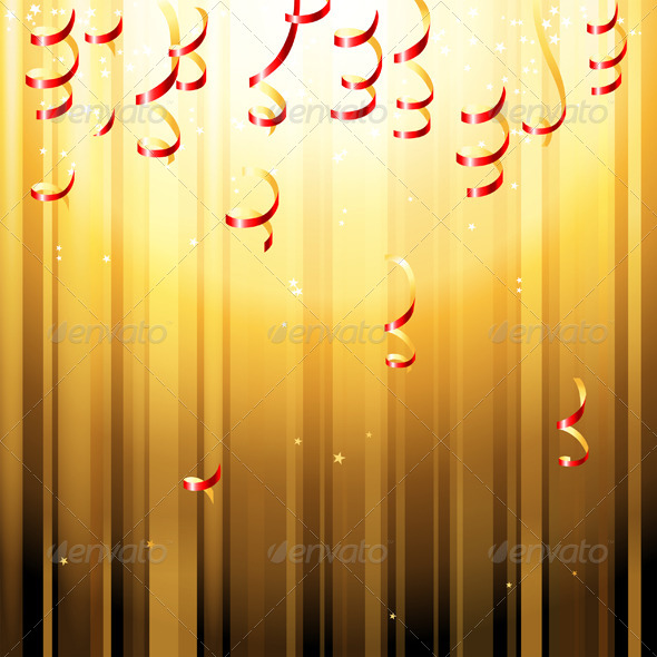 Red Paper Streamers - Backgrounds Decorative