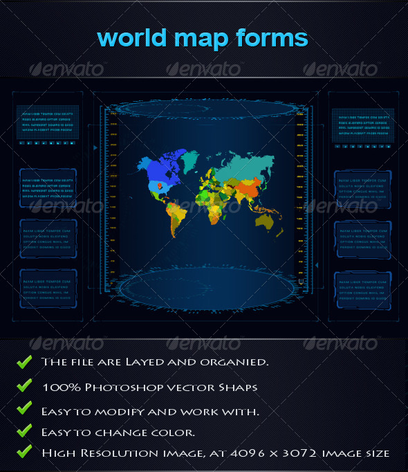World Map Forms - Forms Web Elements
