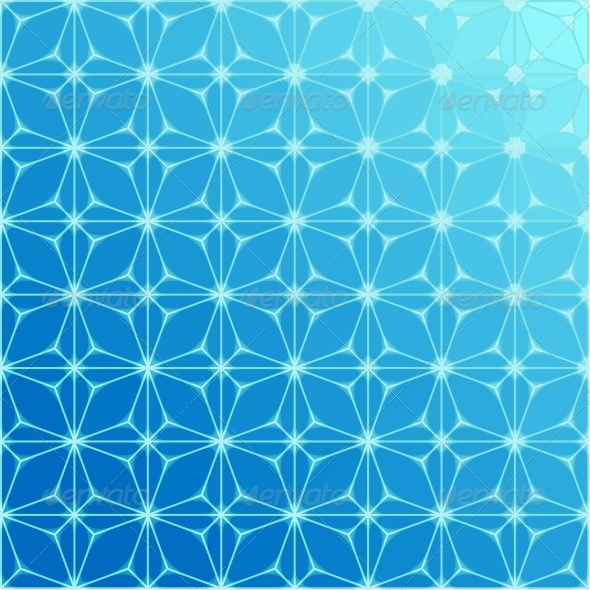 Abstract Blue Geometrical Background - Abstract Conceptual