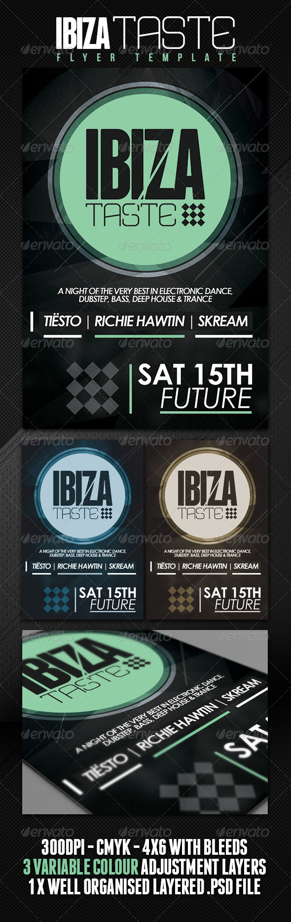 Ibiza Taste Club/Party Flyer - Clubs & Parties Events