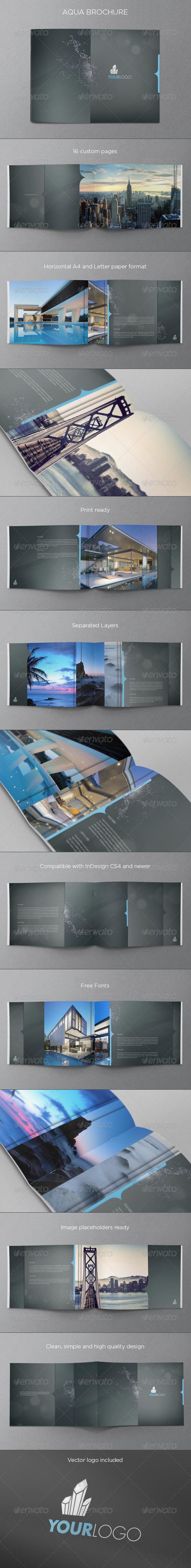 Aqua Premium Brochure - Brochures Print Templates
