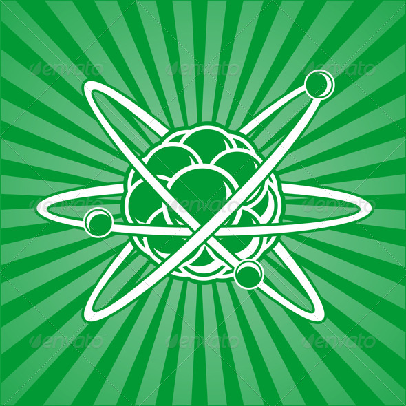 Atom with Nucleus - Backgrounds Decorative