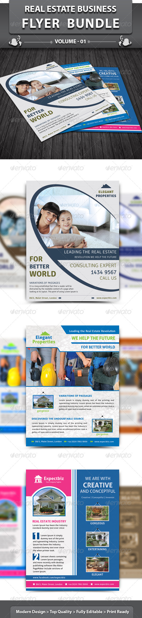Real Estate Business Flyer | Bundle 1 - Corporate Flyers
