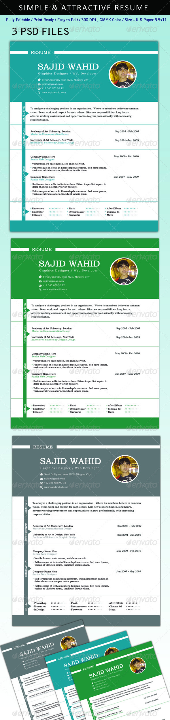 Resume (CV) - Resumes Stationery