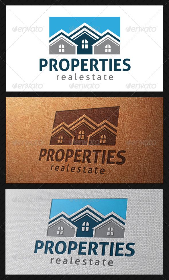 Properties Logo Template - Buildings Logo Templates