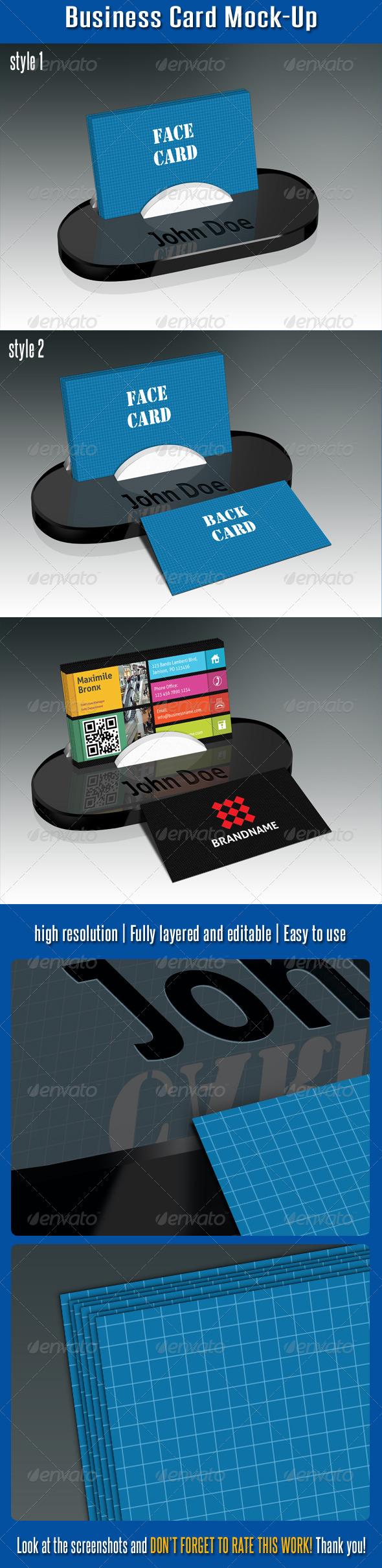 Business Card Mock-Up V02 - Business Cards Print