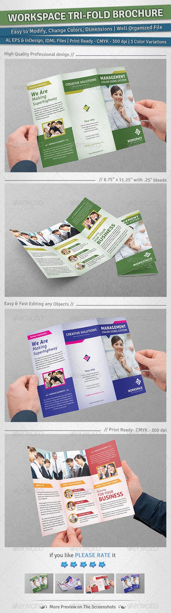 Workspace Tri-Fold Brochure - Corporate Brochures