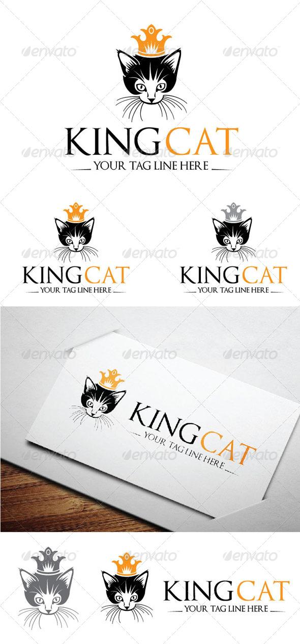 King Cat Logo Template - Logo Templates