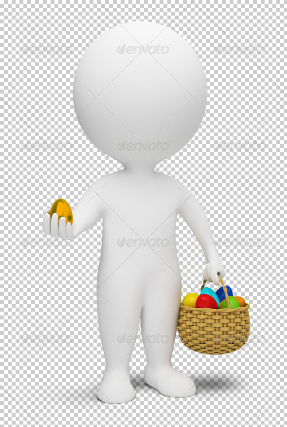 3d small people - Easter - Characters 3D Renders