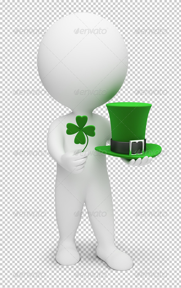 3d small people - Saint Patrick - Characters 3D Renders
