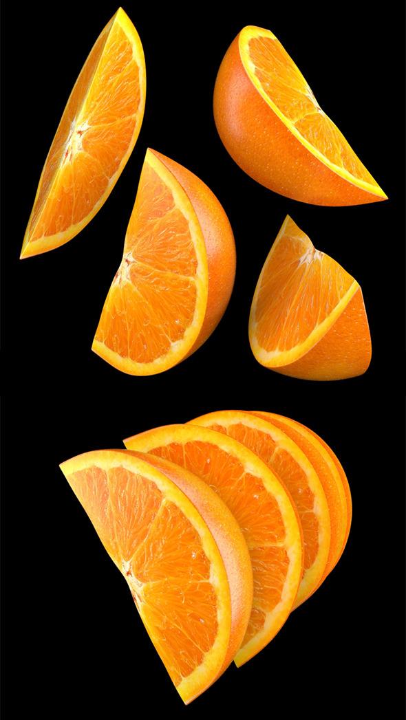 Orange Slice - 3DOcean Item for Sale