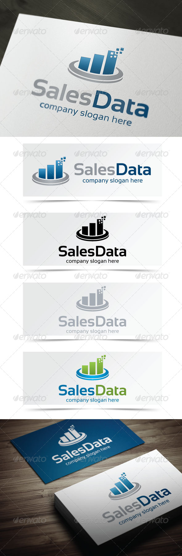 Sales Data - Symbols Logo Templates