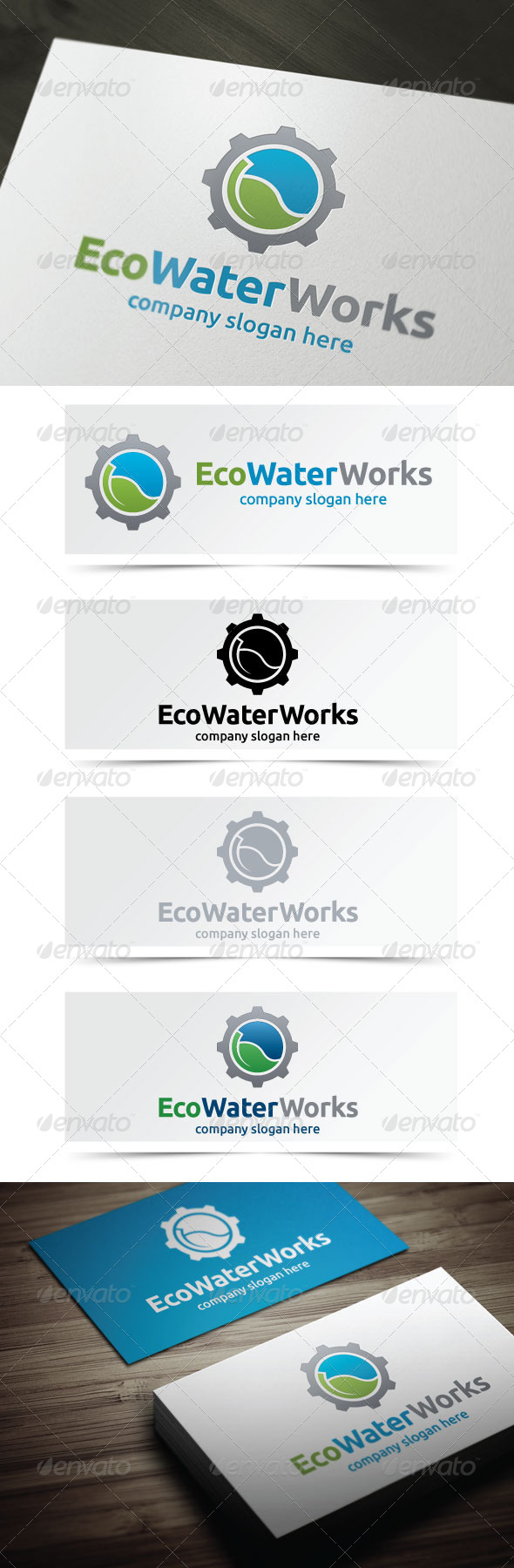 Eco Water Works - Objects Logo Templates