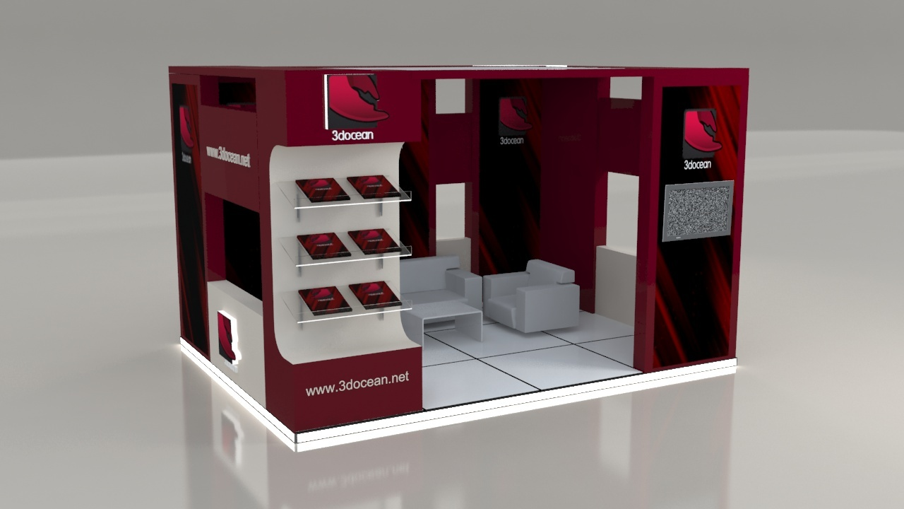 Exhibit Stand 3x4 By Zworksvfx 3docean