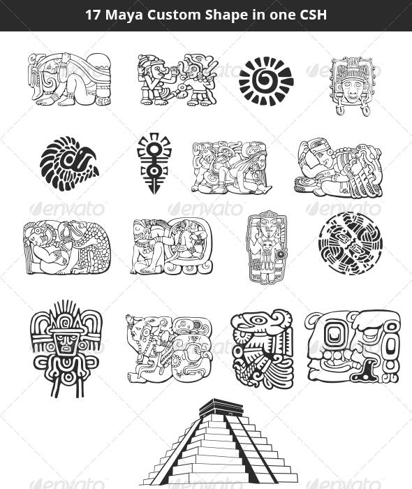 Maya Custom Shapes Set - Symbols Shapes