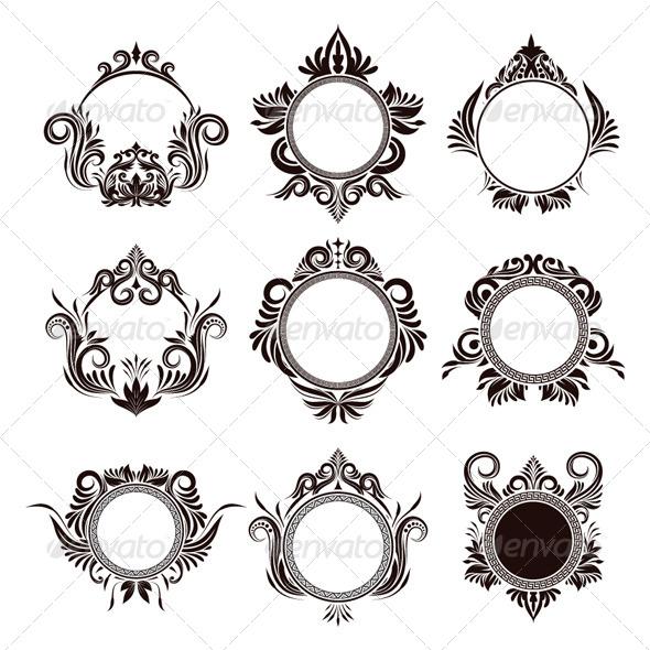 Circle Frame Ornamental - Borders Decorative